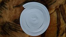Новогодняя белая гирлянда вертушка  - 1шт., длина будет около 70см, фольга