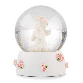 Новогодний снежный шар «Ангелочек»  (9*6 см) 004NA