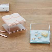 Деликатес Наложенное хранилище Коробка Экономия пространства Офисный рабочий стол Органайзер Мини-пластик Дисплей Коробка - 1TopShop