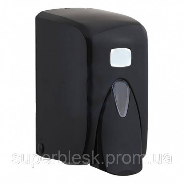 Диспенсер для жидкого мыла 0.5 л, черный, наливной