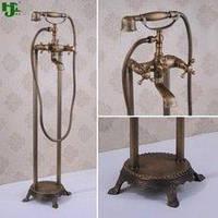 Смеситель для ванны ретро бронза