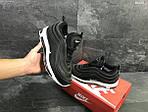 Зимние кроссовки Nike 97 (черно-белые) , фото 5
