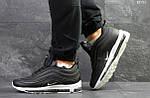 Зимние кроссовки Nike 97 (черно-белые) , фото 2
