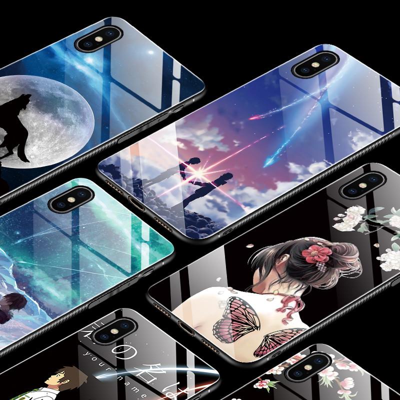 BakeeyМодаШаблонЗакаленноестеклоЗащитная Чехол Для iPhone XS Макс. 1TopShop