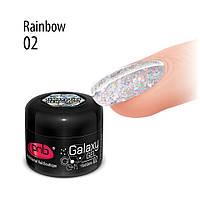 UV/LED GALAXY GEL 02 Rainbow, 5 ml, фото 1