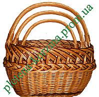 """Набор плетеных корзин из 3шт.""""рыбак ажурный"""" Арт.019А-3"""