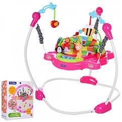 Прыгунок музыкальный с подсветкой, 8913-8 розовый