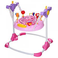 Прыгунок с мягким поворотным креслом, BC01-8 розовый