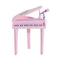 Пианино для детей+ табурет розовый HOMCOM