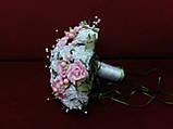 Свадебный букет-дублер белый с розовым, фото 2