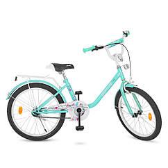 Детский двухколесный велосипед Flower Profi 20 дюймов, Y2084 мята