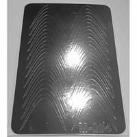 Слайдер дизайн для ногтей 004 (серебро)