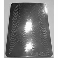 Слайдер дизайн для ногтей 003 (серебро)