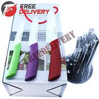 Набор керамических ножей 3шт + подставка