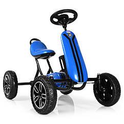 Детский педальный карт на EVA колесах, Bambi M 3622E-4 синий