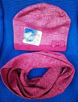 Зимний комплект для девочек - шапка и хомут, Grans (Польша).