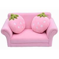 Детский диван, клубника. Детское кресло, HOMCOM