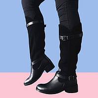 Сапоги женские зимние комбинированные с ремешками Marcella, фото 1