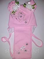 Детские демисезонные шапочки для девочек