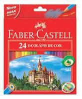 Набор цветных карандашей Faber Castell 24 цвета ЗАМОК И РЫЦАРИ Картонная коробка