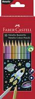 Набор цветных карандашей Faber Castell 10 цветов Metallic Картонная коробка
