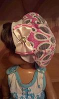 Детские летние шапочки для девочек