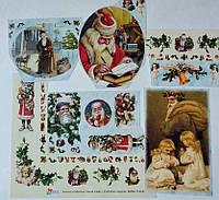 Фрагменты декупажной карты «Дед Мороз»_1, фото 1