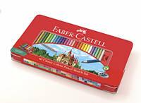 Набор цветных карандашей Faber Castell 60 цветов CLASSIC МЕТАЛЛИЧЕСКИЙ ПЕНАЛ+АКСЕССУАРЫ
