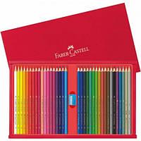 Набор цветных карандашей Faber Castell 36 цветов +ТОЧИЛКА В ДЕРЕВЯННОЙ КОРОБКЕ