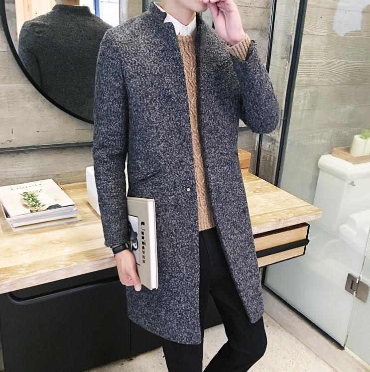Мужское легкое вязаное пальто