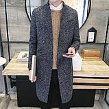 Мужское легкое вязаное пальто, фото 2