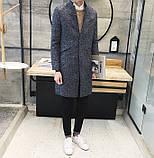 Мужское легкое вязаное пальто, фото 3