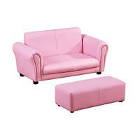 Детский диван, софа HOMCOM розовый