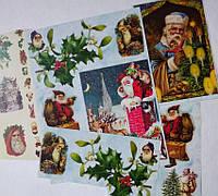 Фрагменты декупажной карты «Дед Мороз»_3, фото 1