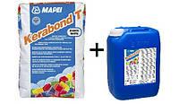 Клей для плитки Kerabond T/Серый 25кг + латексная добавка Isolastic (8л) ТМ MAPEI