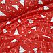 Ткань новогодняя хлопковая, белые елки на красном отрез (0,45*1,6 м), фото 4