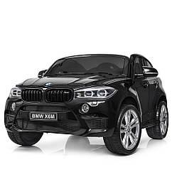 Детский 2-х местный электромобиль BMW с кожаным сиденьем, JJ 2168-2 черный