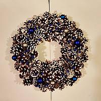 Новогодние венки.Вінки новорічні із шишок еко декор інтерєру