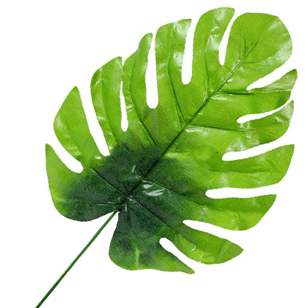 Лист монстеры зеленый, 44см (20 шт. в уп.))