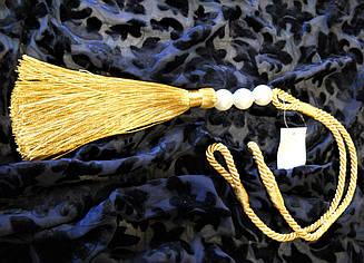 Кисть - подхват для штор (пара) золото с жемчужинами