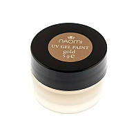 Гель-краска Naomi UV Gel Paint 5 г Gold Shimmer