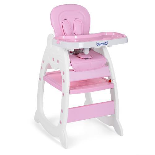 Стульчик для кормления со столиком 2в1 M 3612-8 розовый