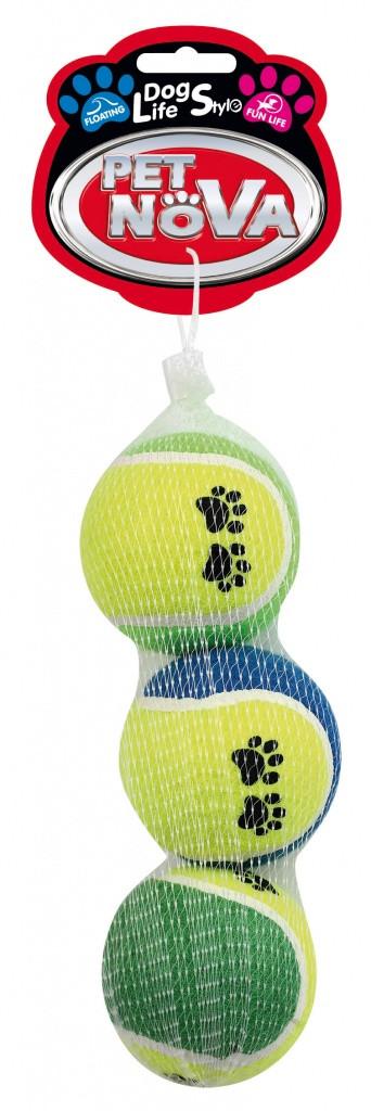 Теннисные мячи с принтом Pet Nova 6 см 3 шт
