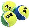 Тенісні м'ячі з принтом Pet Nova 6 см 3 шт, фото 2