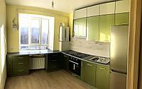 Кухня с глянцевыми фасадами МДФ, фото 1