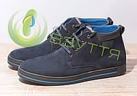 Замшевые  мужские ботинки арт 3620-1 син/н  размеры 42-45, фото 1