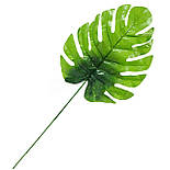 Лист монстеры зеленый, 44см (20 шт. в уп.)), фото 2