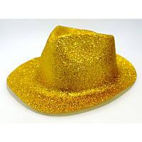 Карнавальні капелюхи (підліткові) Вечірка Блискітки Золотий (чорно-золотий стиль)