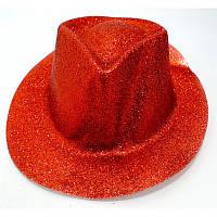Карнавальні капелюхи (підліткові) Вечірка Блискітки Червоний