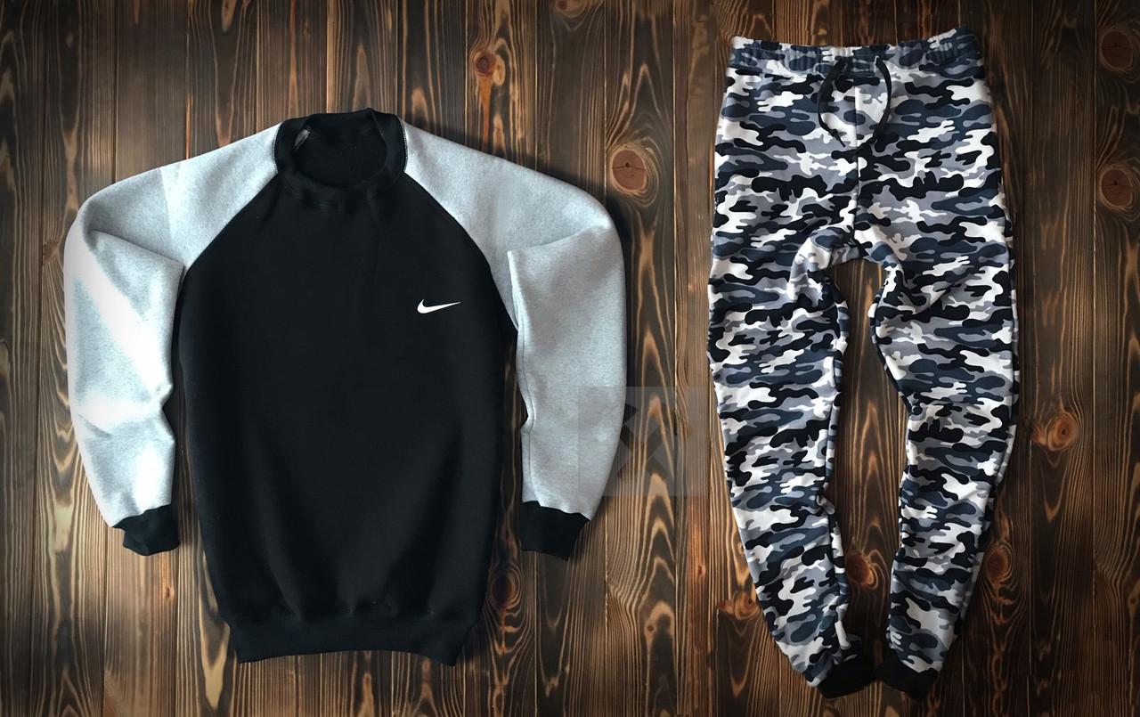 Купить зимний мужской спортивный костюм Nike красно-серого цвета в ... 7ca6fffcf07